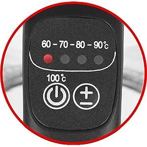 Emerio WK-119255 TESTSIEGER Haus & Garten Test 02/2019, Glas Wasserkocher mit Temperaturwahl (60°C/70°C/80°C/90°C/100°C), BPA-frei, Trockengehschutz, Auto-Off, 2200 Watt, Edelstahl, 1.7 liters