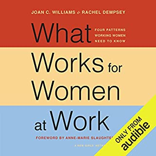 What Works for Women at Work     Four Patterns Working Women Need to Know              Written by:                                                                                                                                 Joan C. Williams,                                                                                        Anne-Marie Slaughter,                                                                                        Rachel Dempsey                               Narrated by:                                                                                                                                 Nan McNamara                      Length: 10 hrs and 38 mins     Not rated yet     Overall 0.0