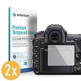 smartect Panzerglas kompatibel mit Nikon D850 [2 Stück] - Bildschirmschutz mit 9H Härte - Blasenfreie Schutzfolie - Anti Fingerprint Panzerglasfolie