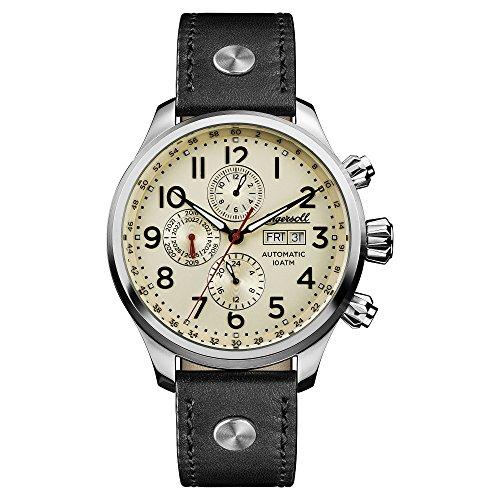 Ingersoll I02301 - Reloj automático para Hombre con Correa de Cuero auténtico, Color Negro
