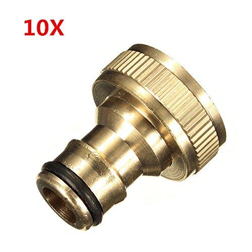 10x 3/4 messing schroefdraad tuinslang waterkraan fittingen solide connector