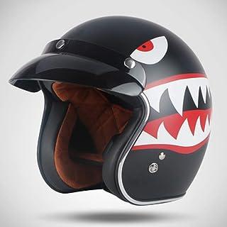 SXC Cascos de Motocicleta, Motocicleta Retro Casco Motocross 3/4 Casco para Harley Cruiser