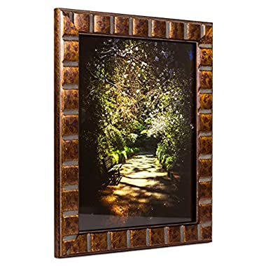 Craig Frames Mosaic, Aged Bronze Picture Frame, 5 by 7-Inch