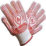 耐熱用 グローブ 滑り止め シリコン付 業務用 GRILL ARMOR GLOVES バーベキュー 手袋 カラー 赤