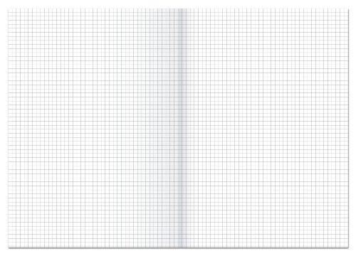 Ursus 608469020 Kanzleipapier gefalzt A3 auf A4, kariert, 250 BG, 80 g/qm, 5 mm