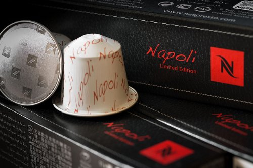 5 Sleeves 50 Nespresso Capsules Limited Edition Napoli