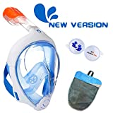 ME MARTIAN ELITE Tribord/Subea Easybreath (New Version) Full Face Snorkel Mask with Waterproof earplug, Enhanced Anti-Fog and Anti-Leak