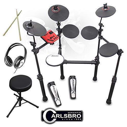 Carlsbro CSD100 R-PLUS Electronic Drum Kit 7 Piece Digital Set Stool and...