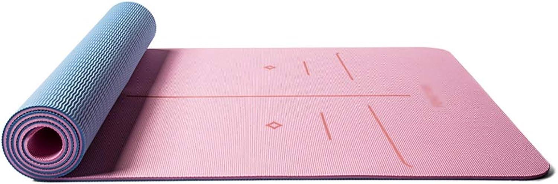 Teng Peng Yoga-Matte - Verdicken und verbreitern, Lange, Rutschfeste, Anfnger Yoga-Fitness Pilates Multifunktions-übungsmatte, Bodenmatte, Gre  183 cm × 66 cm Yoga Matte