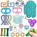 ZONESTA 24 Packs Fidget Toy Set Cheap Amoong in Us Pop Bubbles Push Dimple Set Stress Reduction Toy Set