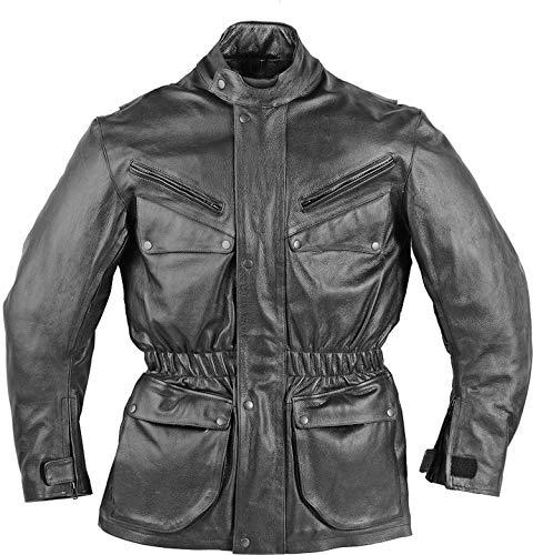 SunnyTrade Fuente Jacke Norman - Hochwertige Lederjacke für Motorradfahrer und Biker, Größe:M