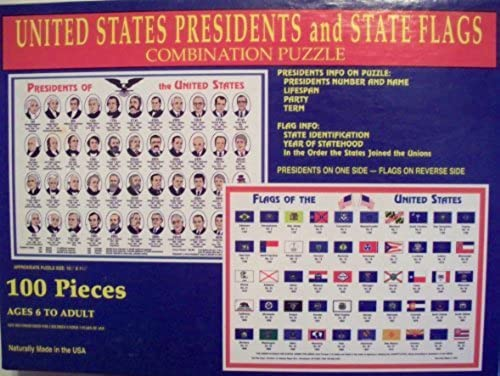 precioso U.S. U.S. U.S. Presidents and State Flags 100 Piece Puzzle by Tee Pee Toys  forma única