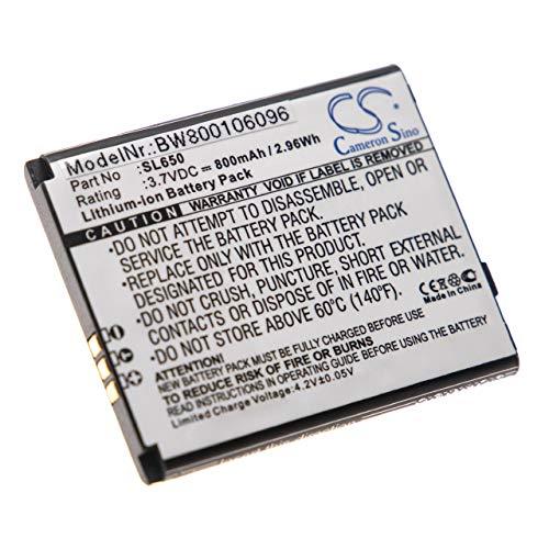 vhbw Li-Ion Akku 800mAh (3.7V) für Handy, Smartphone, Handy Bea-Fon SL650 wie SL650.
