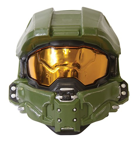 Disguise Master Chief 1/2 máscara de Adulto para Hombre, Verde, Talla única Adulto