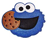 Cookie Monster Face Large 6 Inches Wide Jacket Embroidered Patch