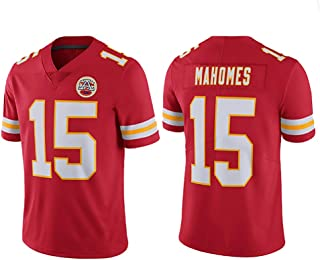 Patrick Mahomes # 15 Rugby-Trikot von Kansas City, Herren-Sweatshirt Kurzarm American Football Shirt T-Shirt S-3XL