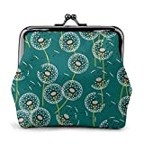 Make A Dandelion Wish Green Women 'S Monedero con Hebilla Monederos Monedero Kiss-Lock Cambiar Carteras de Maquillaje de Viaje