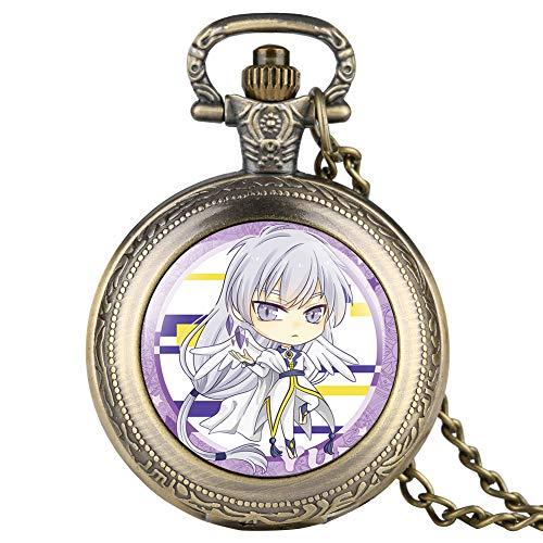Card Captor Sakura Modello Orologio da Tasca per Ragazza Migliori Regali Catena Orologio da Tasca per Donna Tempo Libero Bronzo Orologio da Tasca per Lady