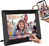 AILRINNI Cornice Digitale WiFi 10.1 Pollici - HD IPS Touch Screen Cloud Cornice Foto Digitale, Auto-rotazione/Mostra e Condividi Foto con l'App/Trasmissione Super Privacy