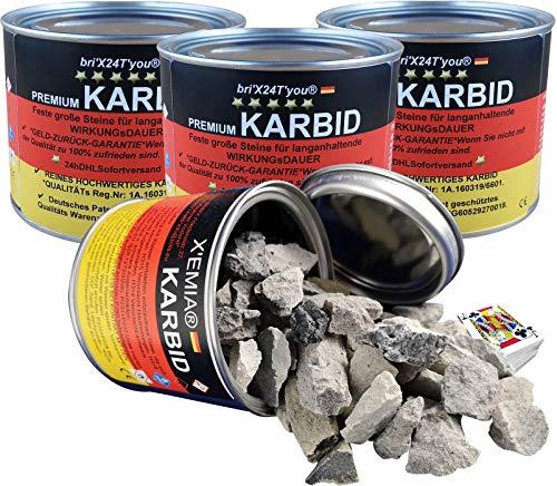 bri\'X24T\'you® Karbid**NEU** 3.00KG +Marken Premium Karbid der Firma BRIN\'X UNERREICHT in QUALITÄT u. WIRKUNGsDauer Kör. 28-45 (6 x 0,5=3.00KG)