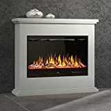 Noble Flame Ferrara – LED Design Elektrokamin Standkamin Kaminofen – Feuerambiente inkl....