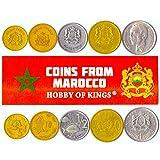 5 Monedas Diferentes - Moneda Extranjera Marroquí Vieja Y Coleccionable para Coleccionar Libros - Conjuntos Únicos De Dinero Mundial - Regalos para Coleccionistas