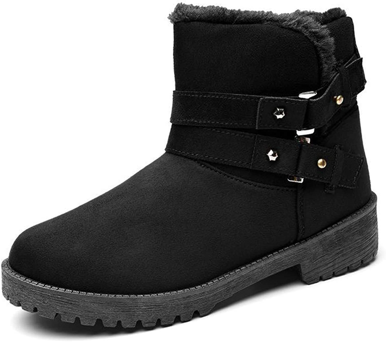 Drew Toby Women Snow Boots Winter Warm Non-Slip Wear-Resistant Round Toe Booties
