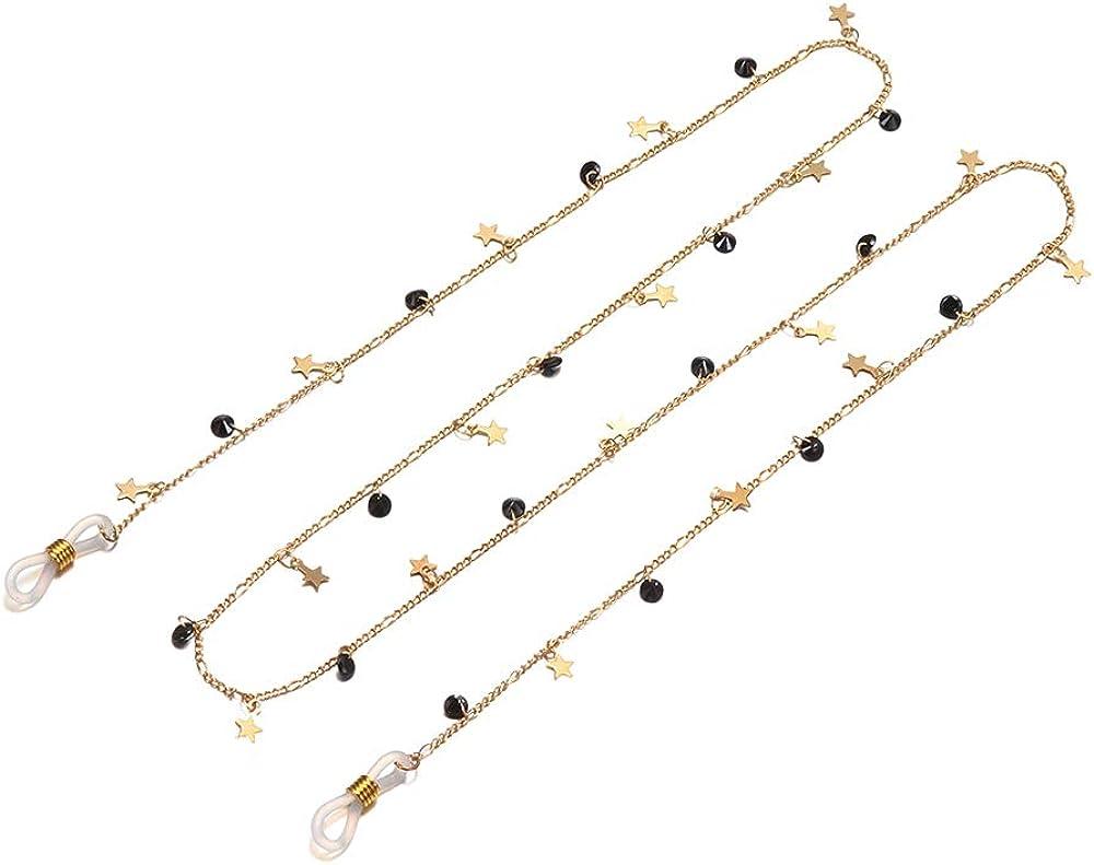 Fashyner Eyeglass Chains for Women Pearl Beaded Glasses Chains Lanyards Eyewear Retainer Sunglasses Chain Strap