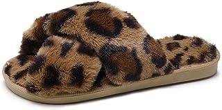 Zapatillas De Mujer De Moda Zapatillas De Interior Zapatillas De Felpa Cálidas Zapatillas De Punta Deslizante Zapatos para...