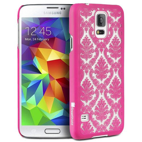 GreatShield TACT Damask funda para teléfono móvil Rosa - Fundas para teléfonos móviles (Funda, Samsung, Galaxy S5, Rosa)