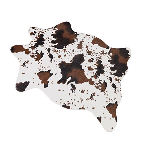 """MustHome Cute Cow Print Rug 29.5""""Wx43.3""""L Fun Rug Nice for Decorating Kids Room/Under Coffee Table/Cowboy-themed Nursery/Jungle Themed Room/Playroom"""