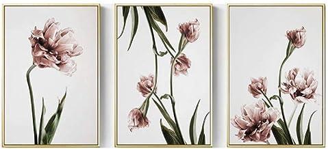 HEZHANG Nordycki styl salon sypialnia dekoracja mural kwiat sofa tło obraz ścienny nitek dekoracja ścienna obraz