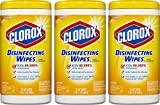 Clorox Disinfecting Wipes Lemon 3 Packs of 75 Count, 225 Count