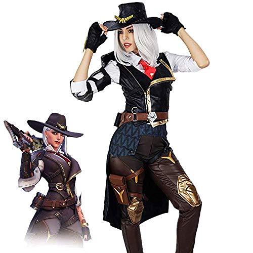 Pandacos OW Ashe disfraz de Halloween para cosplay, disfraz completo de batalla, conjunto de disfraz para fiesta