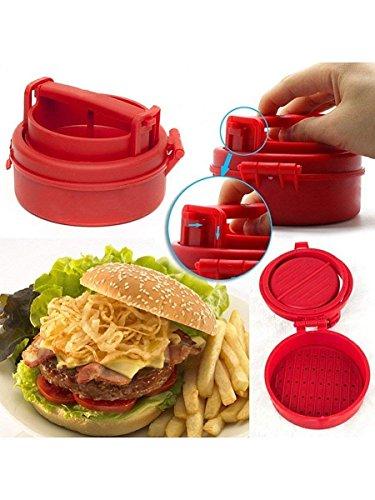 Praxon Burger Pizza Tikki Maker Meat Press Machine - Barbecue Stuffed Burger Sandwich Pizza Tikki Cutlets Patty Cookie Presses Mold Maker Shaper - Kitchen Gadgets Accessories