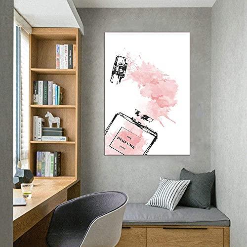 CloudShang Pestañas Negro Labios Mujeres Poster Sencillez Perfume Libros Poster Moda Pared Arte Impresiones Moderno Salón Belleza Chica Habitación Decoracion De la Lona Arte Vogue Pintura F23097