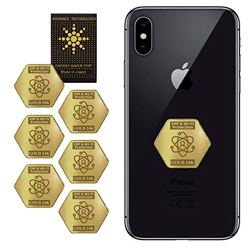 EMF&5G Blocker 6+1 pcs for Mobile Phones 2021 Latest Model – EMF Protection Cell Phone Stickers - 24K Gold EMF Pro Neutralizer - 5G Mobile Phone Protector - Anti-Radiation 7 Shilds for All Devices