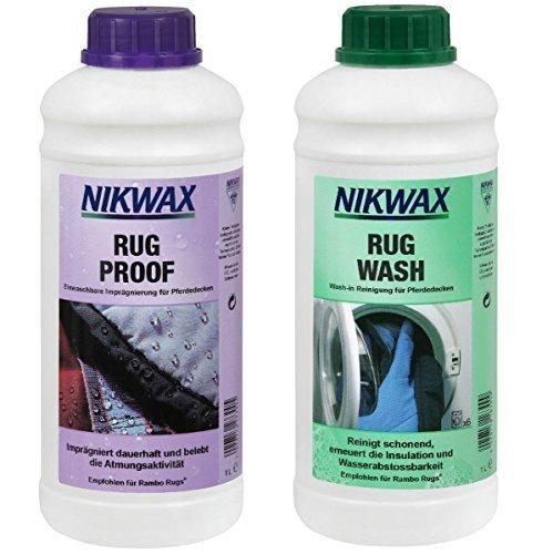 Nikwax Rug Wash Waschmittel und Rug Proof Imprägnierung für Pferdedecken