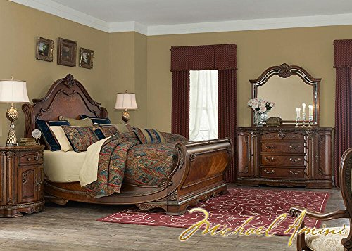 The Roomplace Bella Veneto 4 Pc. King Bedroom Furniture Set by Michael Amini 16' Height