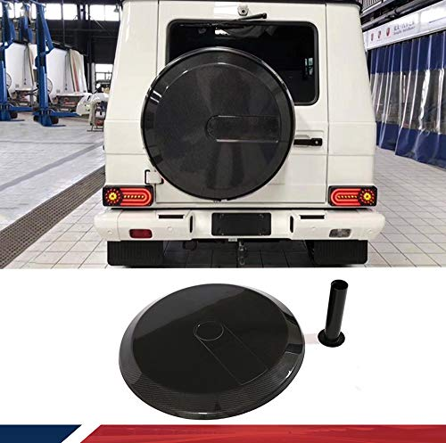 JC SPORTLINE Carbon Fiber Spare Tire Cover Fits for Mercedes-Benz G-class W463 Wagon G500 G550 G55 G63 G65 AMG 2004-2018 Custom Parts Body Kits Factory Outlet