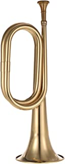 Muslady B Flat Bugle Call Trumpet Brass Cavalry Horn with Mouthpiece for School Band Cavalry Military Orchestra