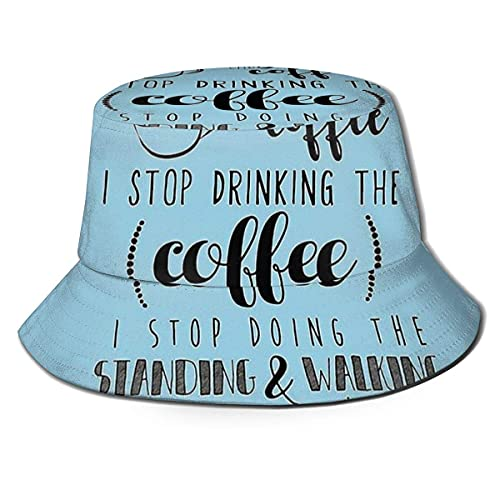 XCNGG Kann nicht aufhören, Kaffee zu Trinken Unisex Summer Sun Bucket Hat Beach Cap