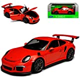 Welly Porsche 911 991 GT3 RS Coupe Orange 2011-2018 1/24 Modell Auto
