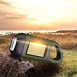 Linterna LED, linterna de emergencia, recargable, con manivela, soporta carga USB o carga con manivela o carga solar para senderismo, camping, pesca nocturna.