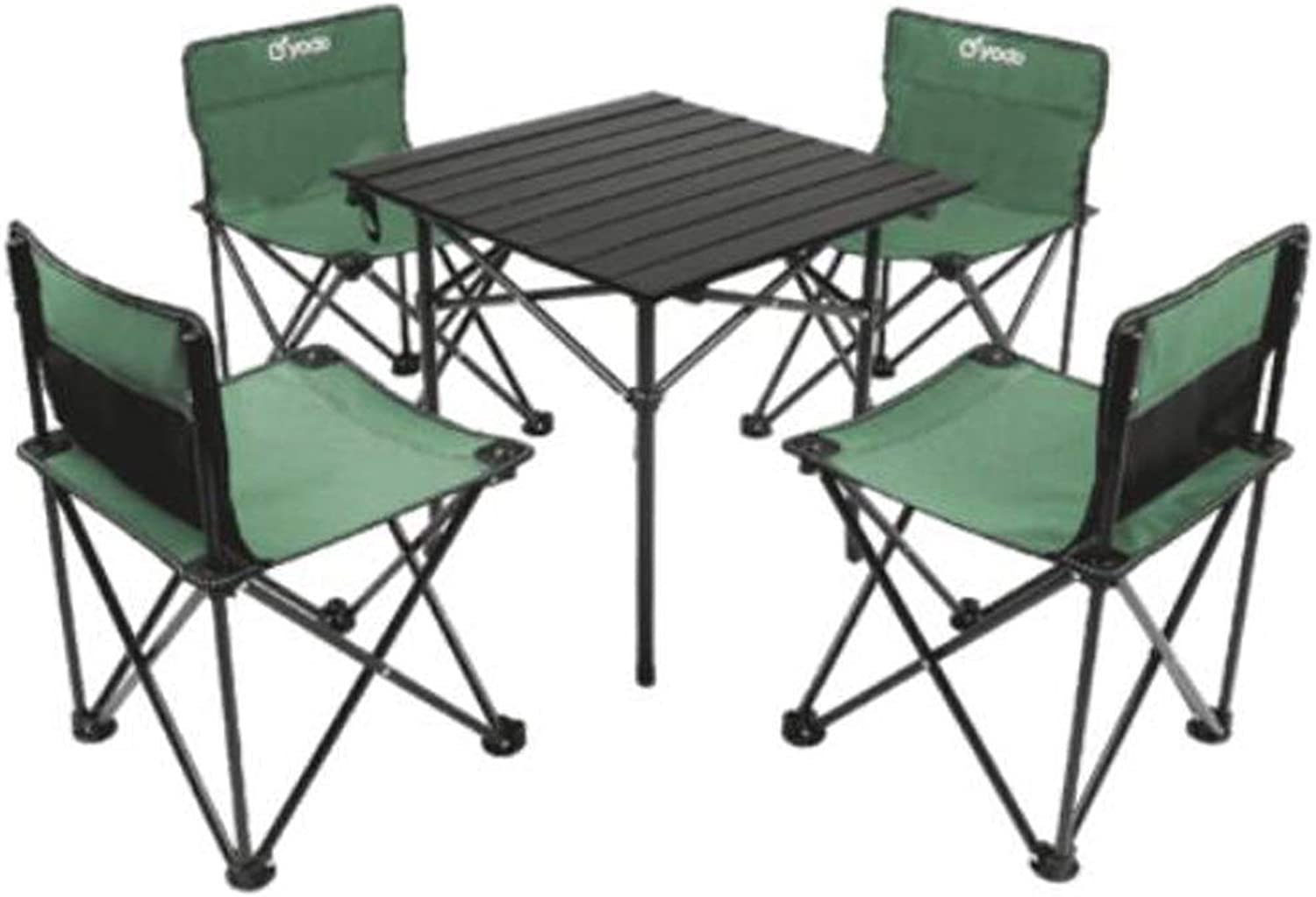 Aluminum Folding Table  Lightweight Portable Dining Table, Picnic, Travel, Outdoor Sports, 53 x 53 x 50 cm, with Folding Chairs Folding Table