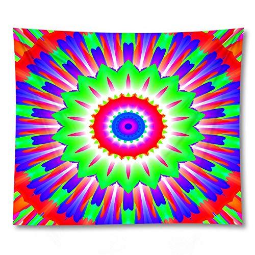 PPOU Mandala tryckt vägg hippie gobeläng hem sängbord väggdekoration soffa filt gobeläng bakgrund tyg A6 130 x 150 cm