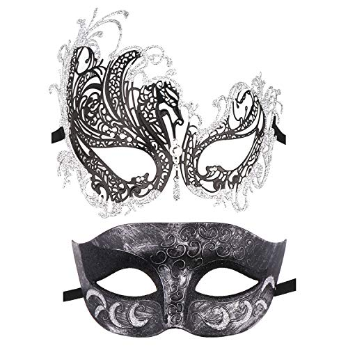 Couple Masquerade Mask Metal Masks Venetian Party Mask Halloween Costume Mask Mardi Gras Mask