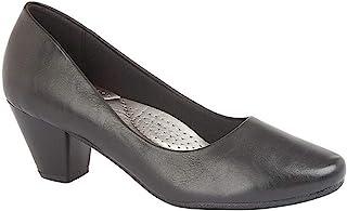 Boulevard Womens/Ladies PU Leather Plain Court Shoe (45mm Heel)