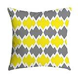 VJGOAL Impresión Amarilla Suave cómodo Funda de Almohada Sofá Cintura del Coche Cojín Cuadrado Cubierta Decoración para el hogar(45_x_45_cm,Multicolor6)