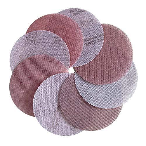 SENRISE - Discos de malla de lija (5 unidades, 150 mm, grano P400, con gancho y bucle, para extracción de polvo de pintura, extracción/quitación/lijado de pintura